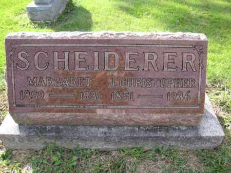 SCHEIDERER, MARGARET - Union County, Ohio | MARGARET SCHEIDERER - Ohio Gravestone Photos