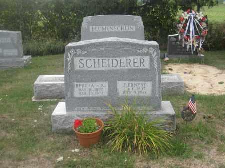 SCHEIDERER, J. ERNEST - Union County, Ohio | J. ERNEST SCHEIDERER - Ohio Gravestone Photos