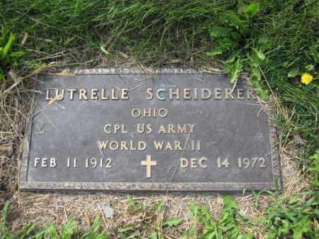 SCHEIDERER, LUTRELLE - Union County, Ohio   LUTRELLE SCHEIDERER - Ohio Gravestone Photos