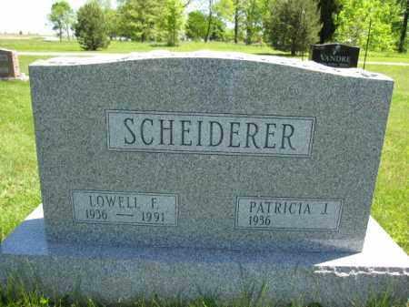 SCHEIDERER, PATRICIA J. - Union County, Ohio | PATRICIA J. SCHEIDERER - Ohio Gravestone Photos