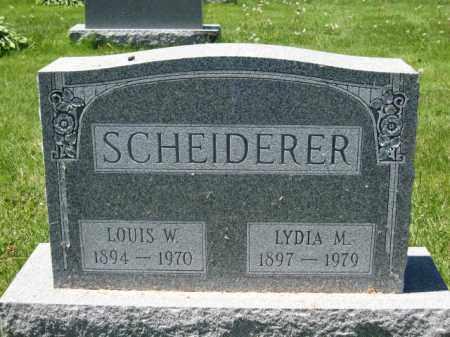 SCHEIDERER, LYDIA M. - Union County, Ohio | LYDIA M. SCHEIDERER - Ohio Gravestone Photos