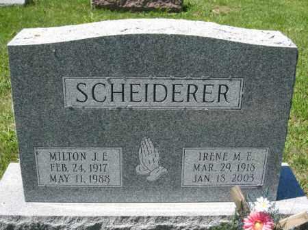 SCHEIDERER, MILTON J.E. - Union County, Ohio | MILTON J.E. SCHEIDERER - Ohio Gravestone Photos