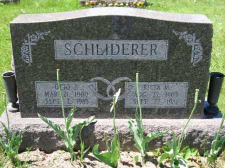 SCHEIDERER, RIETA M. - Union County, Ohio   RIETA M. SCHEIDERER - Ohio Gravestone Photos