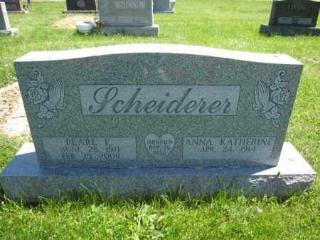 SCHEIDERER, PEARL E. - Union County, Ohio | PEARL E. SCHEIDERER - Ohio Gravestone Photos