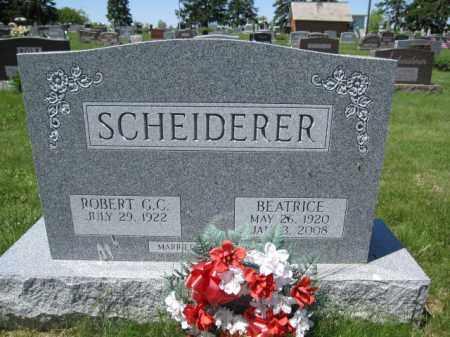 SCHEIDERER, BEATRICE - Union County, Ohio | BEATRICE SCHEIDERER - Ohio Gravestone Photos