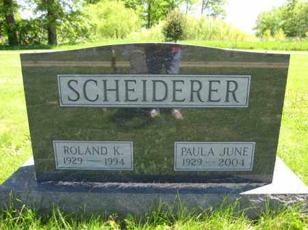 SCHEIDERER, PAULA JUNE - Union County, Ohio | PAULA JUNE SCHEIDERER - Ohio Gravestone Photos