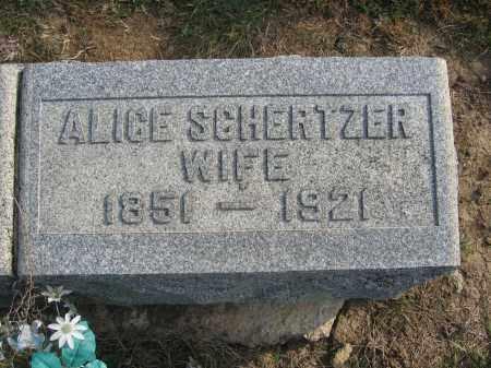 SCHERTZER, ALICE - Union County, Ohio | ALICE SCHERTZER - Ohio Gravestone Photos