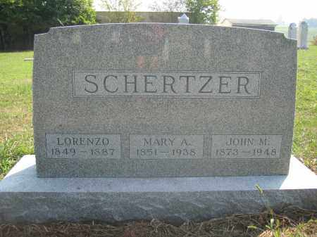 SCHERTZER, LORENZO - Union County, Ohio | LORENZO SCHERTZER - Ohio Gravestone Photos