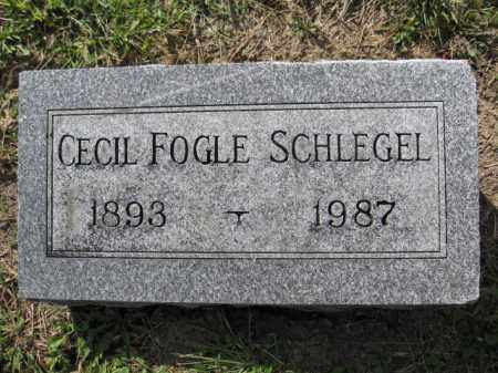 SCHLEGEL, CECIL FOGLE - Union County, Ohio | CECIL FOGLE SCHLEGEL - Ohio Gravestone Photos