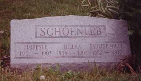 SCHOENLEB, THELMA - Union County, Ohio | THELMA SCHOENLEB - Ohio Gravestone Photos