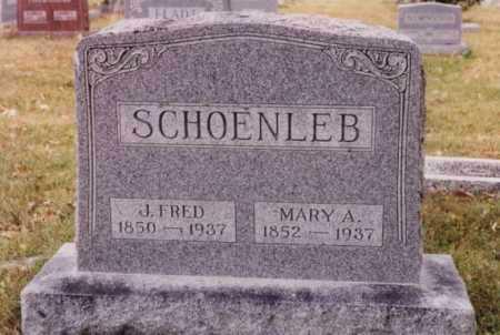 SCHOENLEB, J FRED - Union County, Ohio | J FRED SCHOENLEB - Ohio Gravestone Photos