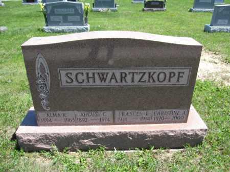 SCHWARTZKOPF, FRANCIS - Union County, Ohio | FRANCIS SCHWARTZKOPF - Ohio Gravestone Photos