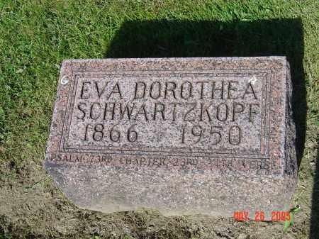 SCHWARTZKOPF, EVA DOROTHEA SCHEIDERER - Union County, Ohio | EVA DOROTHEA SCHEIDERER SCHWARTZKOPF - Ohio Gravestone Photos