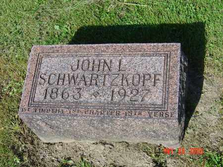 SCHWARTZKOPF, JOHN L - Union County, Ohio   JOHN L SCHWARTZKOPF - Ohio Gravestone Photos