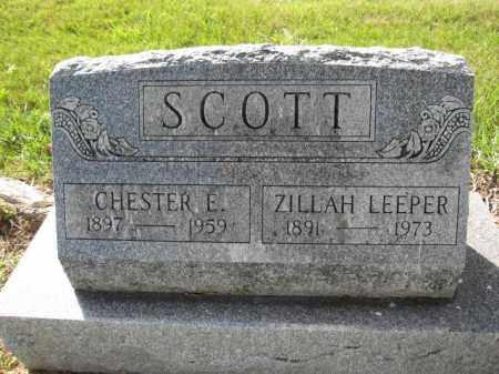 SCOTT, CHESTER E. - Union County, Ohio | CHESTER E. SCOTT - Ohio Gravestone Photos