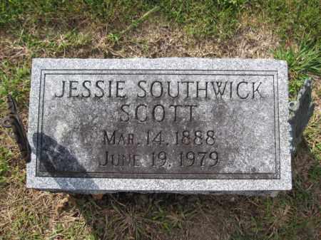 SCOTT, JESSIE SOUTHWICK - Union County, Ohio | JESSIE SOUTHWICK SCOTT - Ohio Gravestone Photos