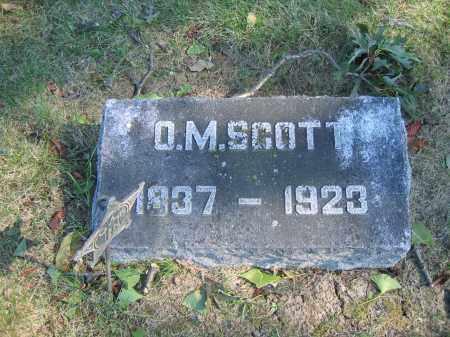 SCOTT, O.M. - Union County, Ohio   O.M. SCOTT - Ohio Gravestone Photos