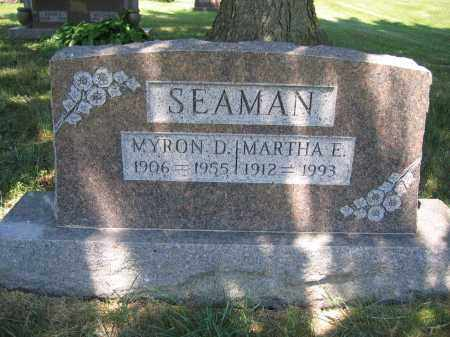 SEAMAN, MARTHA E. - Union County, Ohio | MARTHA E. SEAMAN - Ohio Gravestone Photos