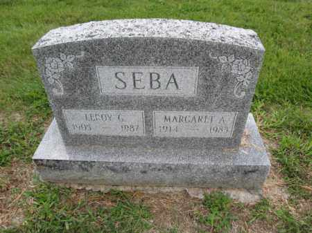 SEBA, MARGARET A. - Union County, Ohio | MARGARET A. SEBA - Ohio Gravestone Photos