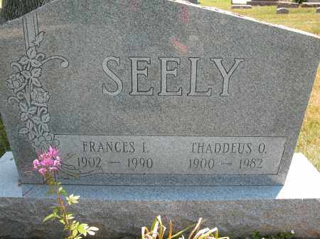 SEELY, THADDEUS O. - Union County, Ohio | THADDEUS O. SEELY - Ohio Gravestone Photos