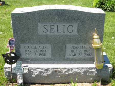 SELIG, GEORGE A. - Union County, Ohio | GEORGE A. SELIG - Ohio Gravestone Photos