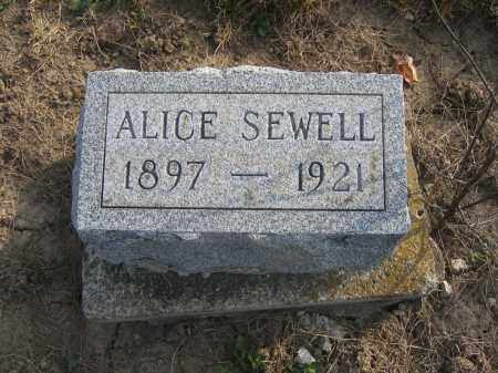 SEWELL, ALICE - Union County, Ohio   ALICE SEWELL - Ohio Gravestone Photos