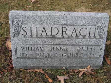 SHADRACH, JENNIE - Union County, Ohio | JENNIE SHADRACH - Ohio Gravestone Photos