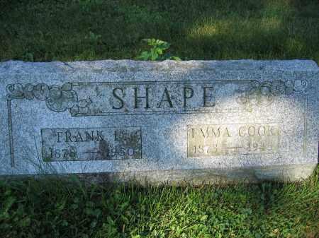 SHAPE, FRANK L. - Union County, Ohio   FRANK L. SHAPE - Ohio Gravestone Photos