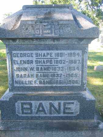 SHAPE, ELENOR - Union County, Ohio | ELENOR SHAPE - Ohio Gravestone Photos