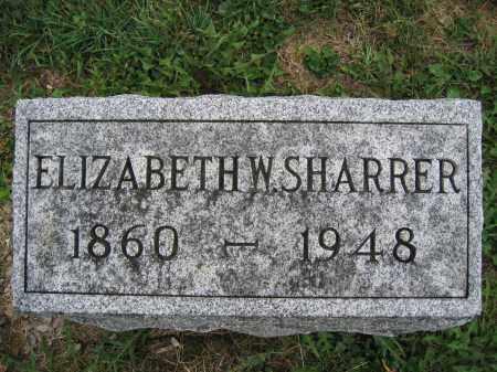 SHARRER, ELIZABETH W. - Union County, Ohio   ELIZABETH W. SHARRER - Ohio Gravestone Photos