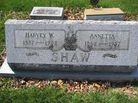 SHAW, ANNAETTA - Union County, Ohio | ANNAETTA SHAW - Ohio Gravestone Photos