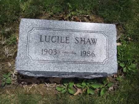 SHAW, LUCILE - Union County, Ohio   LUCILE SHAW - Ohio Gravestone Photos