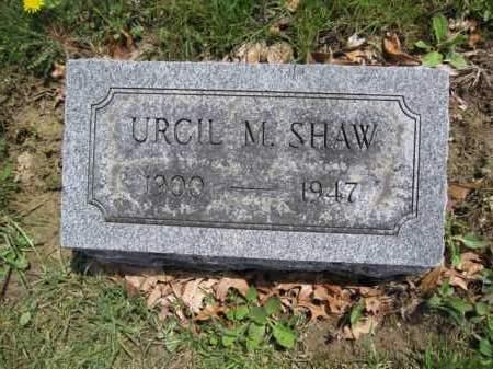 SHAW, URCIL M. - Union County, Ohio | URCIL M. SHAW - Ohio Gravestone Photos