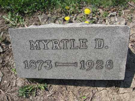 SHIRK, MYRTLE D. - Union County, Ohio   MYRTLE D. SHIRK - Ohio Gravestone Photos