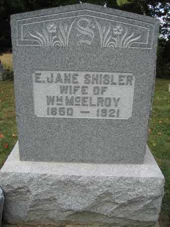 MCELROY, ELIZABETH JANE SHISLER - Union County, Ohio | ELIZABETH JANE SHISLER MCELROY - Ohio Gravestone Photos