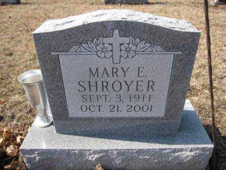 SHROYER, MARY E. - Union County, Ohio | MARY E. SHROYER - Ohio Gravestone Photos