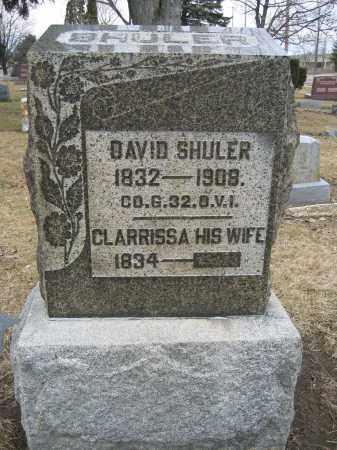 SHULER, DAVID - Union County, Ohio   DAVID SHULER - Ohio Gravestone Photos