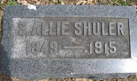 SHULER, S. ALLIE - Union County, Ohio | S. ALLIE SHULER - Ohio Gravestone Photos