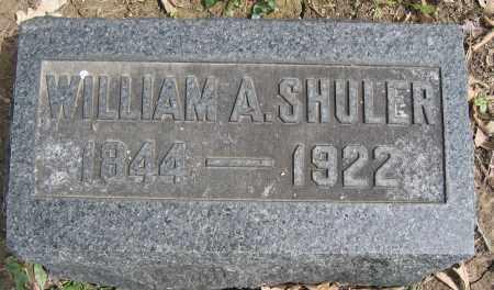 SHULER, WILLIAM A. - Union County, Ohio   WILLIAM A. SHULER - Ohio Gravestone Photos