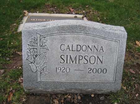 SIMPSON, CALDONNA - Union County, Ohio | CALDONNA SIMPSON - Ohio Gravestone Photos