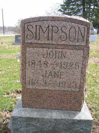 SIMPSON, JANE - Union County, Ohio | JANE SIMPSON - Ohio Gravestone Photos
