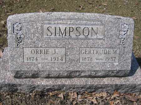 SIMPSON, GERTRUDE M. - Union County, Ohio | GERTRUDE M. SIMPSON - Ohio Gravestone Photos