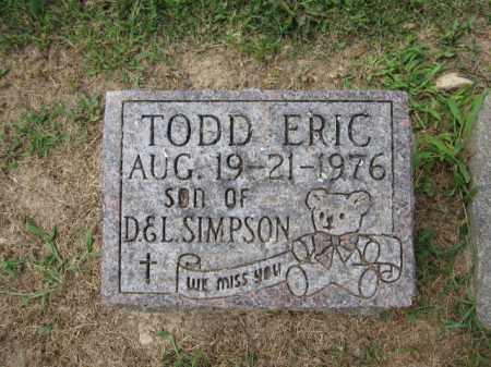 SIMPSON, TODD ERIC - Union County, Ohio | TODD ERIC SIMPSON - Ohio Gravestone Photos