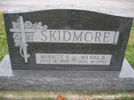 SKIDMORE, MERRITT E. - Union County, Ohio   MERRITT E. SKIDMORE - Ohio Gravestone Photos