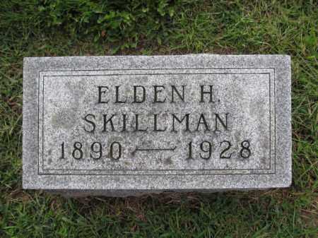 SKILLMAN, ELDEN H. - Union County, Ohio | ELDEN H. SKILLMAN - Ohio Gravestone Photos