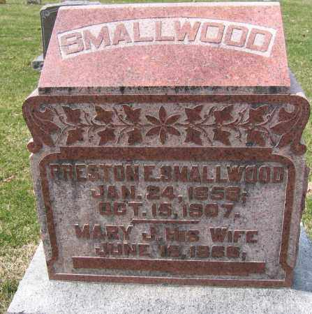 SMALLWOOD, PRESTON E. - Union County, Ohio | PRESTON E. SMALLWOOD - Ohio Gravestone Photos