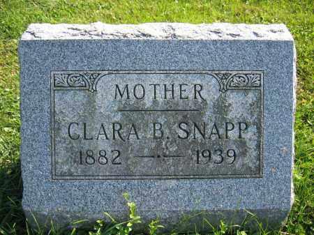 SNAPP, CLARA B. - Union County, Ohio | CLARA B. SNAPP - Ohio Gravestone Photos