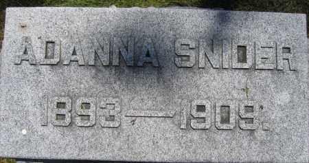 SNIDER, ADANNA - Union County, Ohio   ADANNA SNIDER - Ohio Gravestone Photos