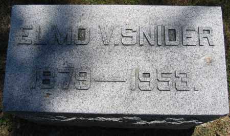 SNIDER, ELMO V. - Union County, Ohio | ELMO V. SNIDER - Ohio Gravestone Photos