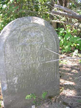 SNIDER, MARY A. - Union County, Ohio | MARY A. SNIDER - Ohio Gravestone Photos